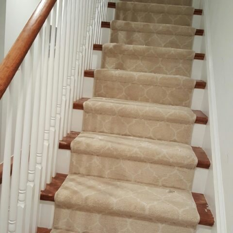 Tuftex carpet stair runner in Havertown, PA from Havertown Carpet