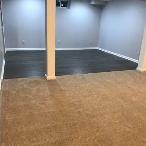 Custom space with carpet and hardwood in Newtown Square, PA from Havertown Carpet