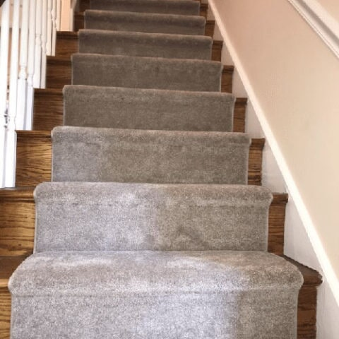 Custom stair runner in West Chester, PA from Havertown Carpet