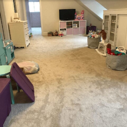 Attic carpet installation in Ardmore, PA from Havertown Carpet
