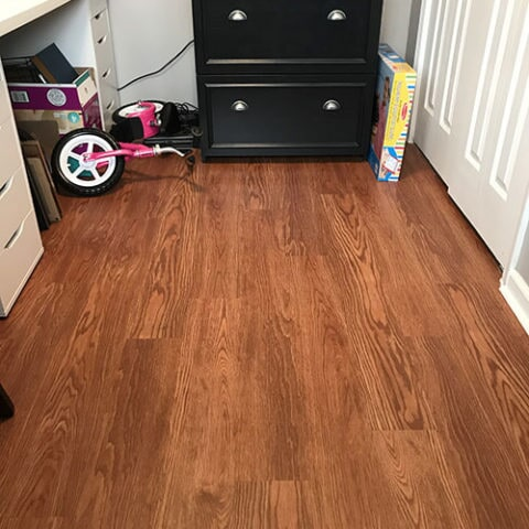 Hardwood installation in office in Havertown, PA from Havertown Carpet