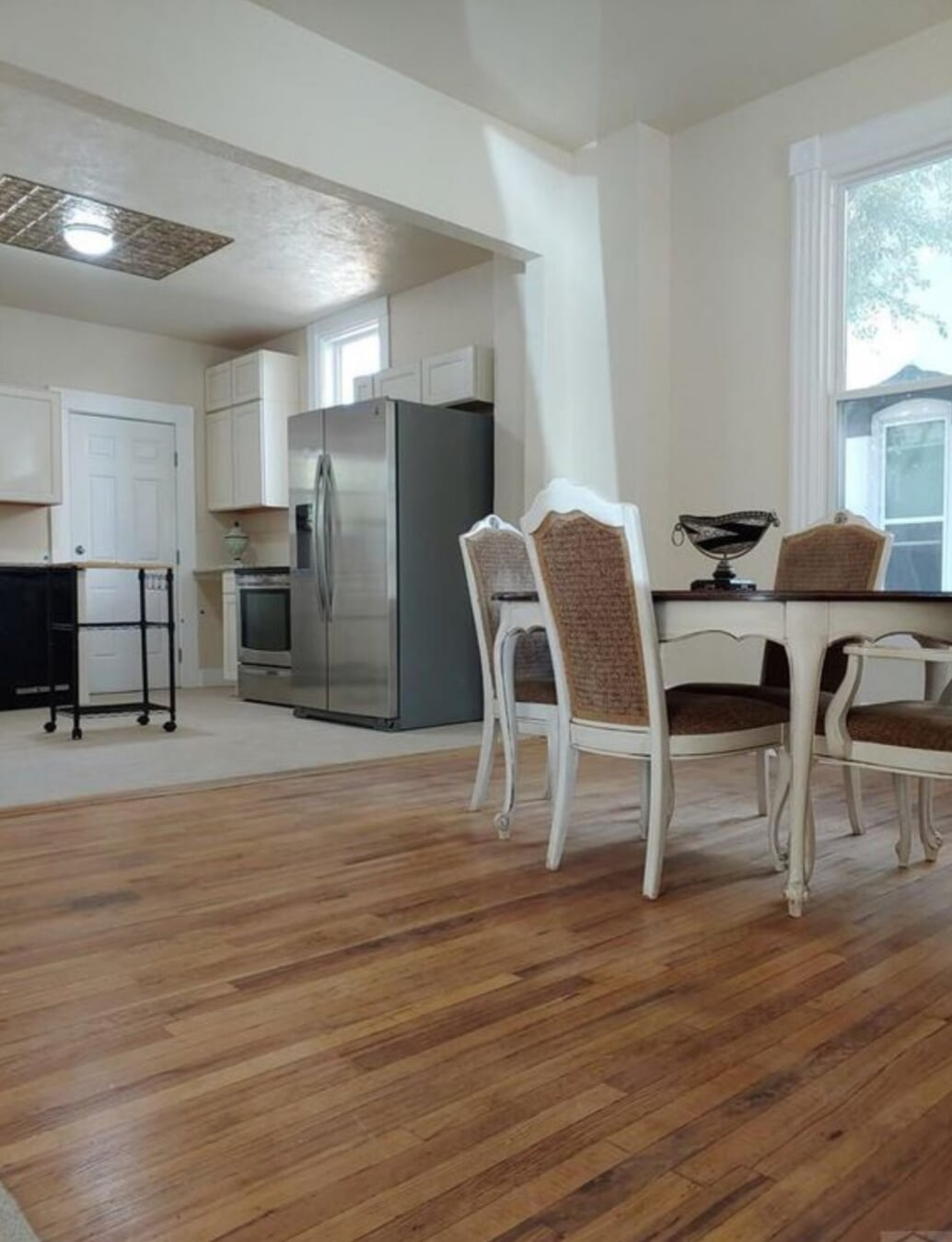 Classic hardwood and tile installation in Walsenburg, CO