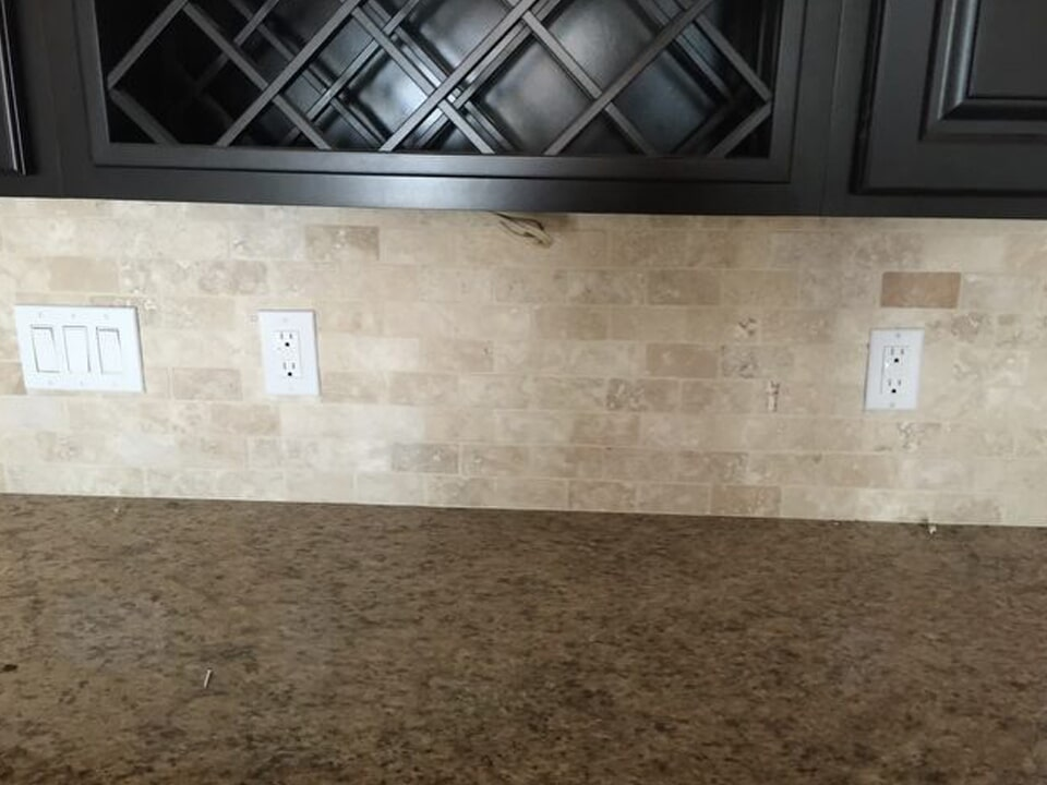 Custom counters and backsplash in Dayton, TX from Baytown Floors