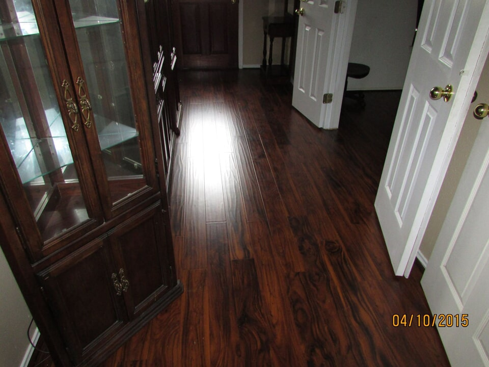 Dark tone hardwood flooring in Galveston, TX from Baytown Floors