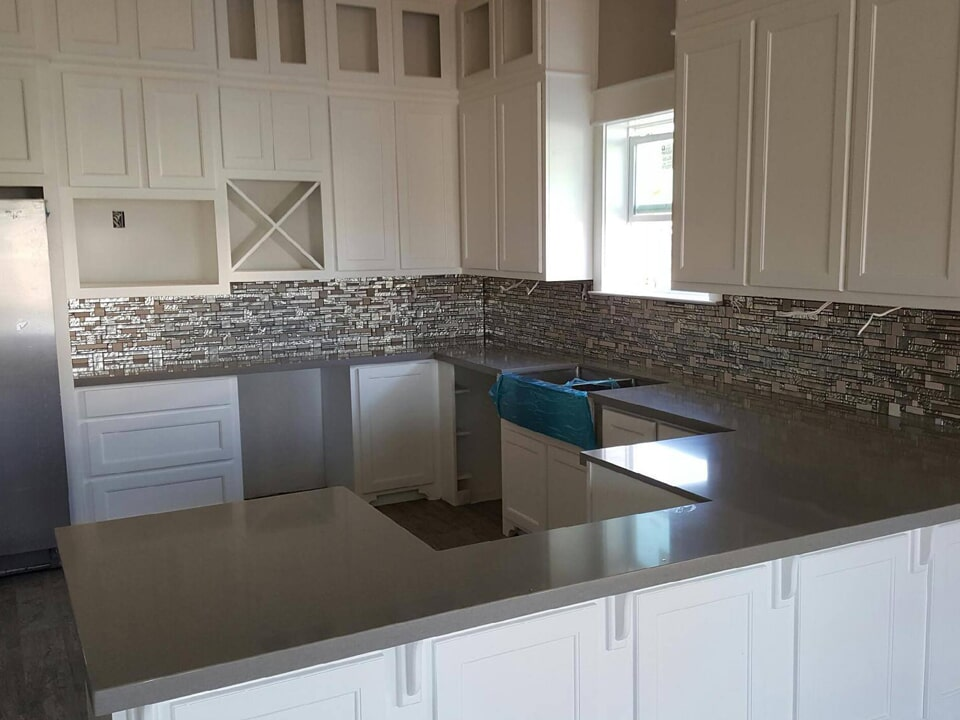 Modern kitchen with concrete countertops in Baytown, TX from Baytown Floors
