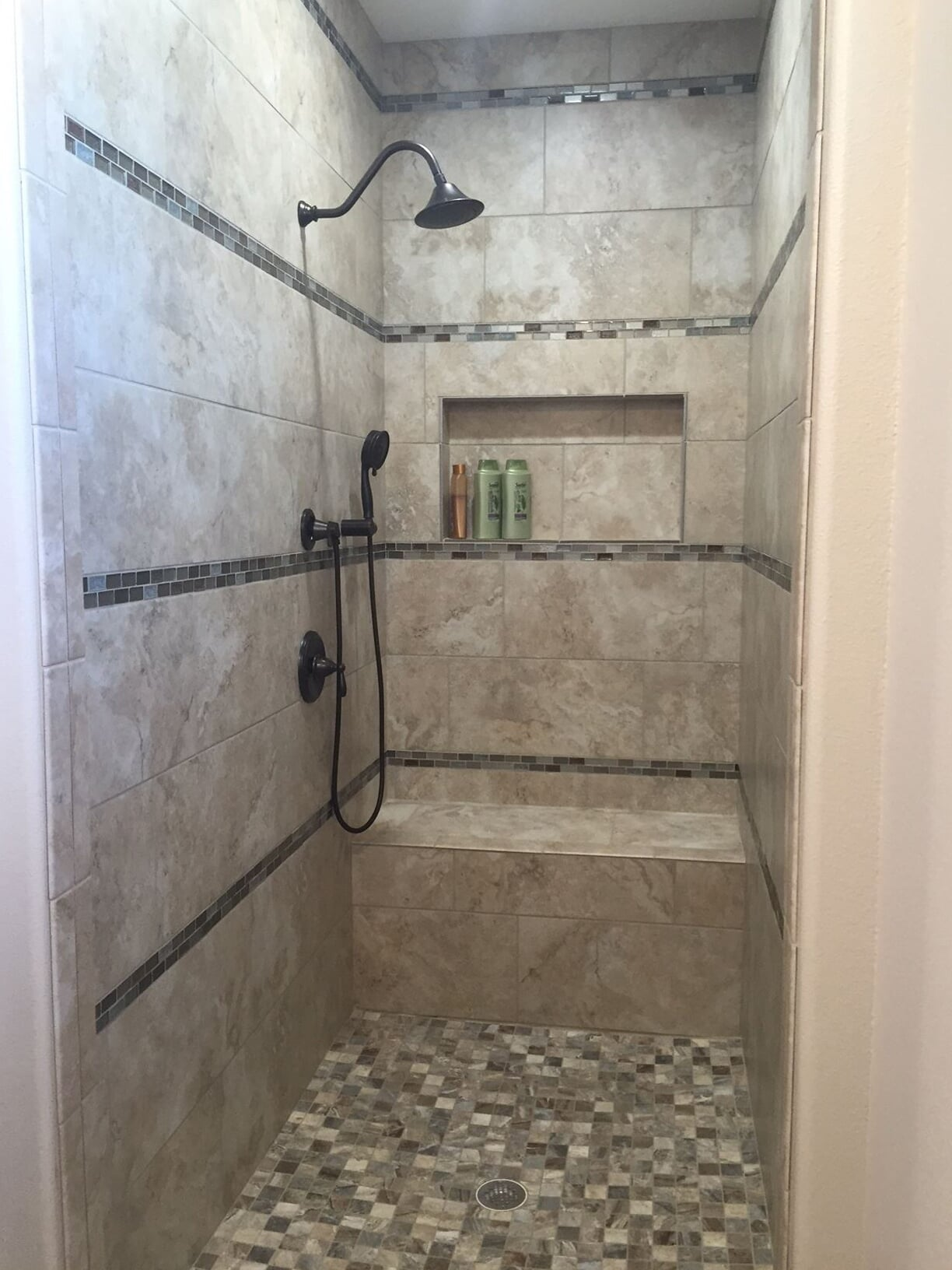 Custom shower installation in Houston, TX from Baytown Floors