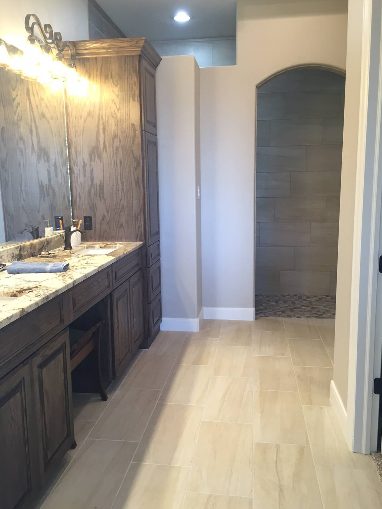 Beautiful bathroom vanity in Galveston, TX from Baytown Floors