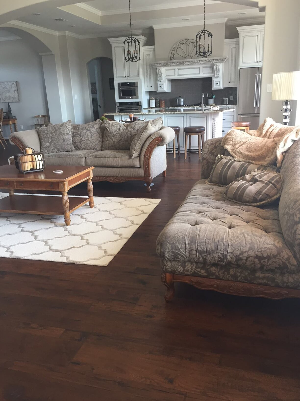 Natural wood flooring installation in Dayton, TX from Baytown Floors