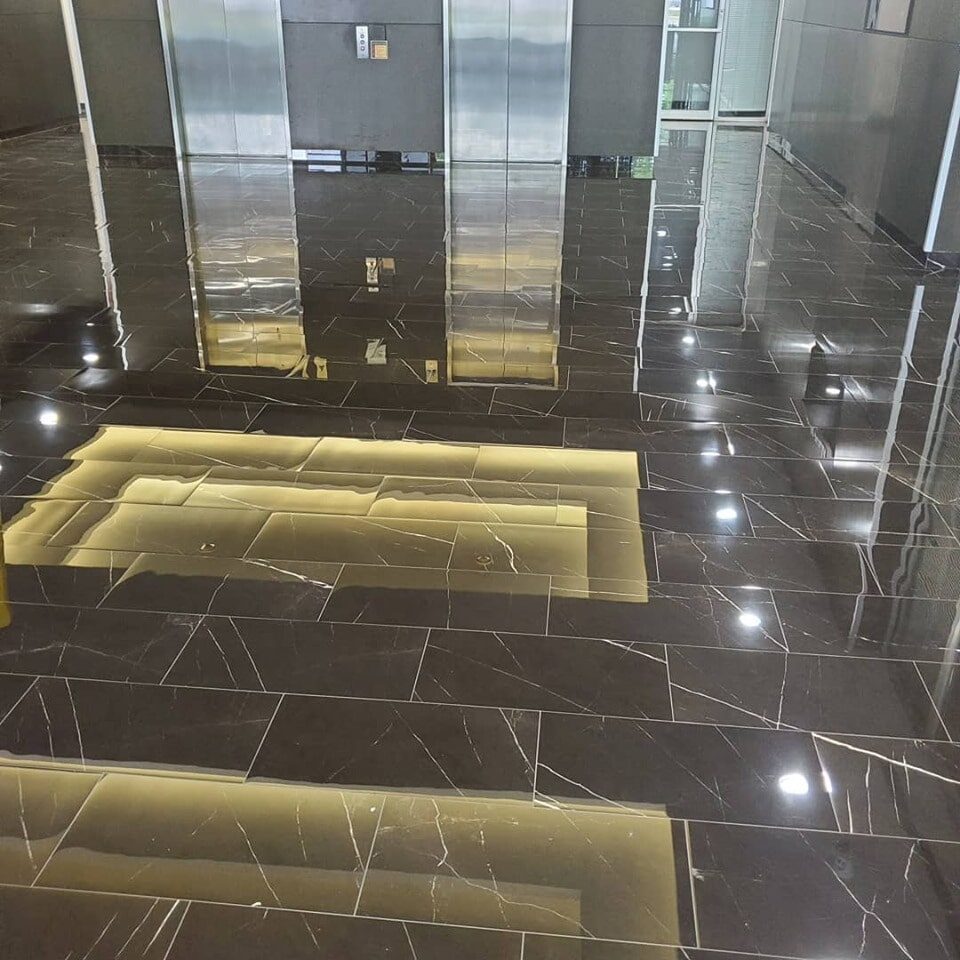 Commercial stone flooring in Sugar Land, TX from Petra Flooring & Blinds
