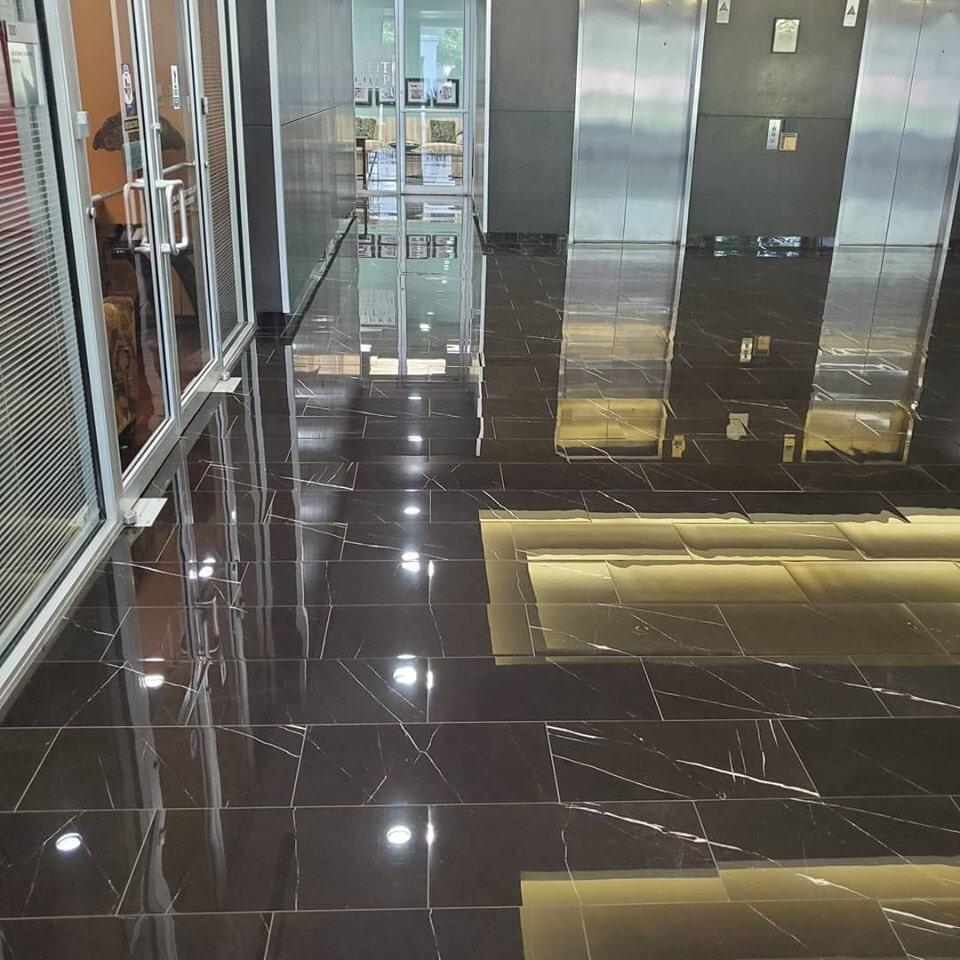 Commercial flooring installation in Sugar Land, TX from Petra Flooring & Blinds