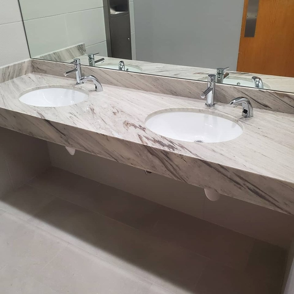 Natural stone countertop in Spring, TX from Petra Flooring & Blinds