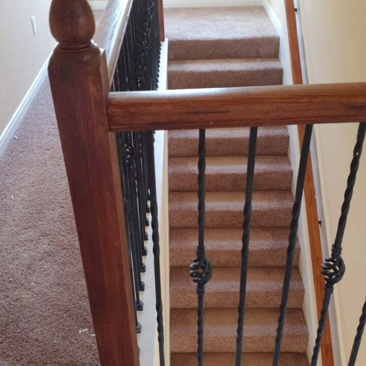 Carpeted stairs in Sugar Land, TX from Petra Flooring & Blinds