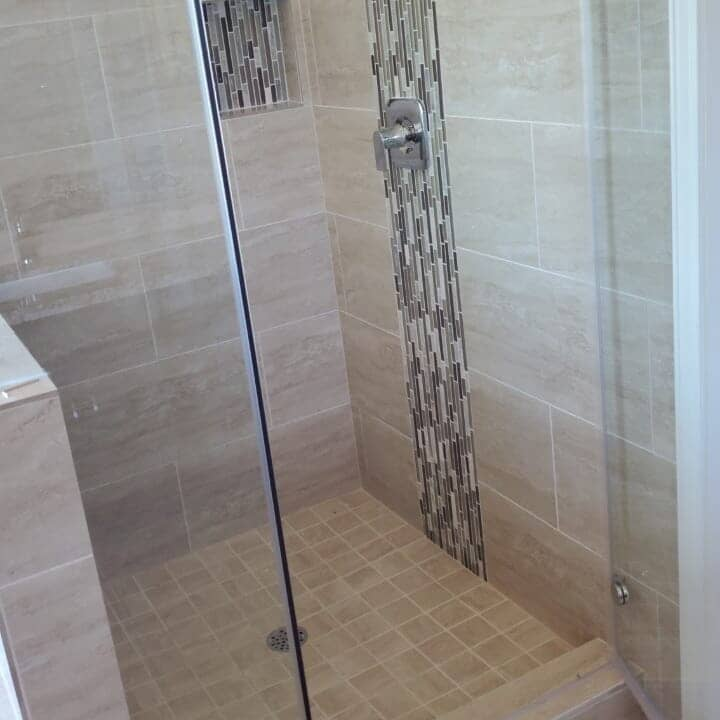 Shower remodel in Pearland, TX from Petra Flooring & Blinds