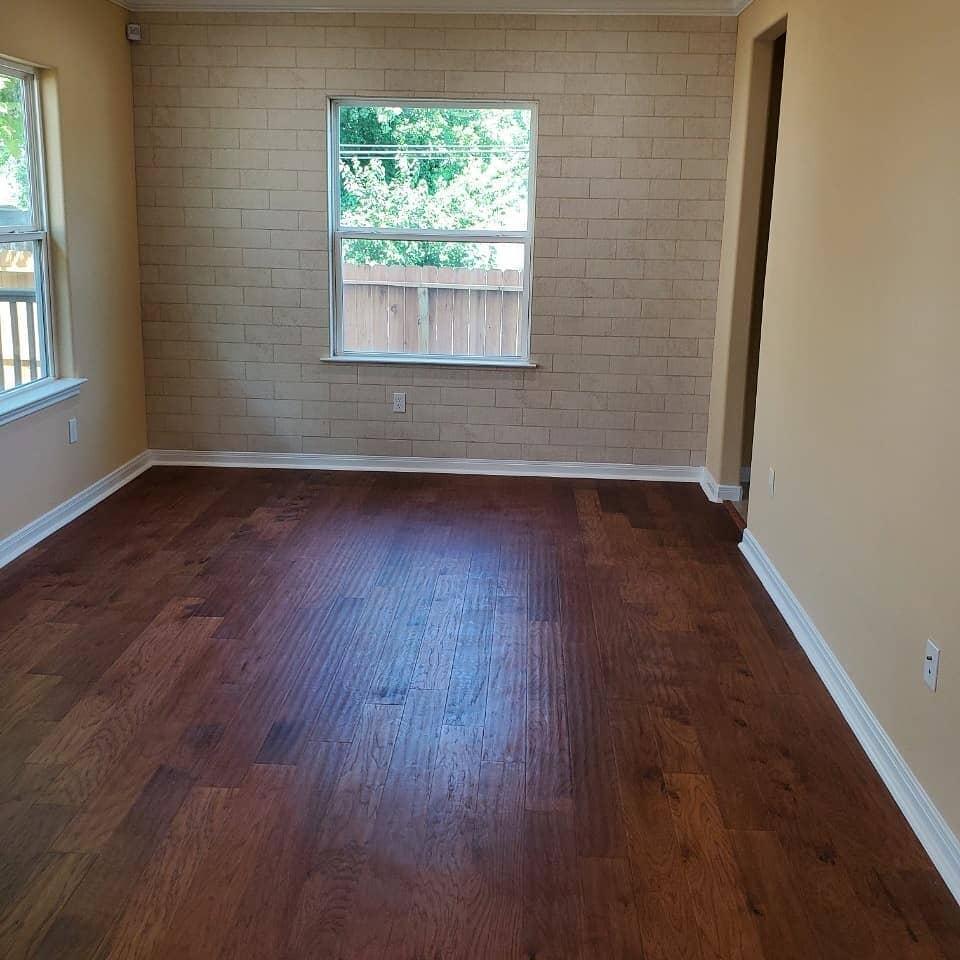 Hardwood flooring installation in Houston, TX from Petra Flooring & Blinds
