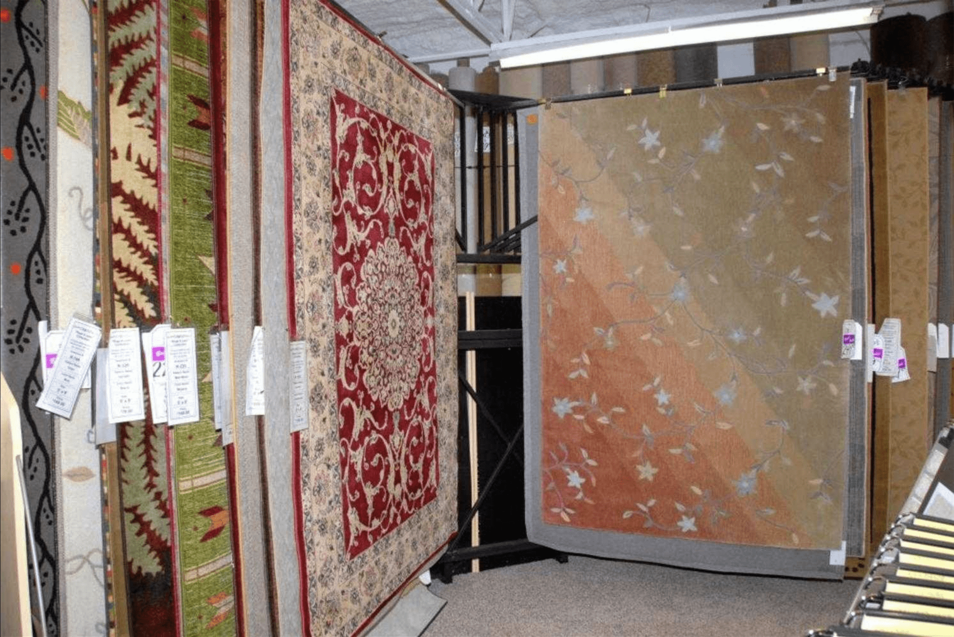 Flip through our large area rugs at Britt's Carpet Outlet in Cape Coral, FL