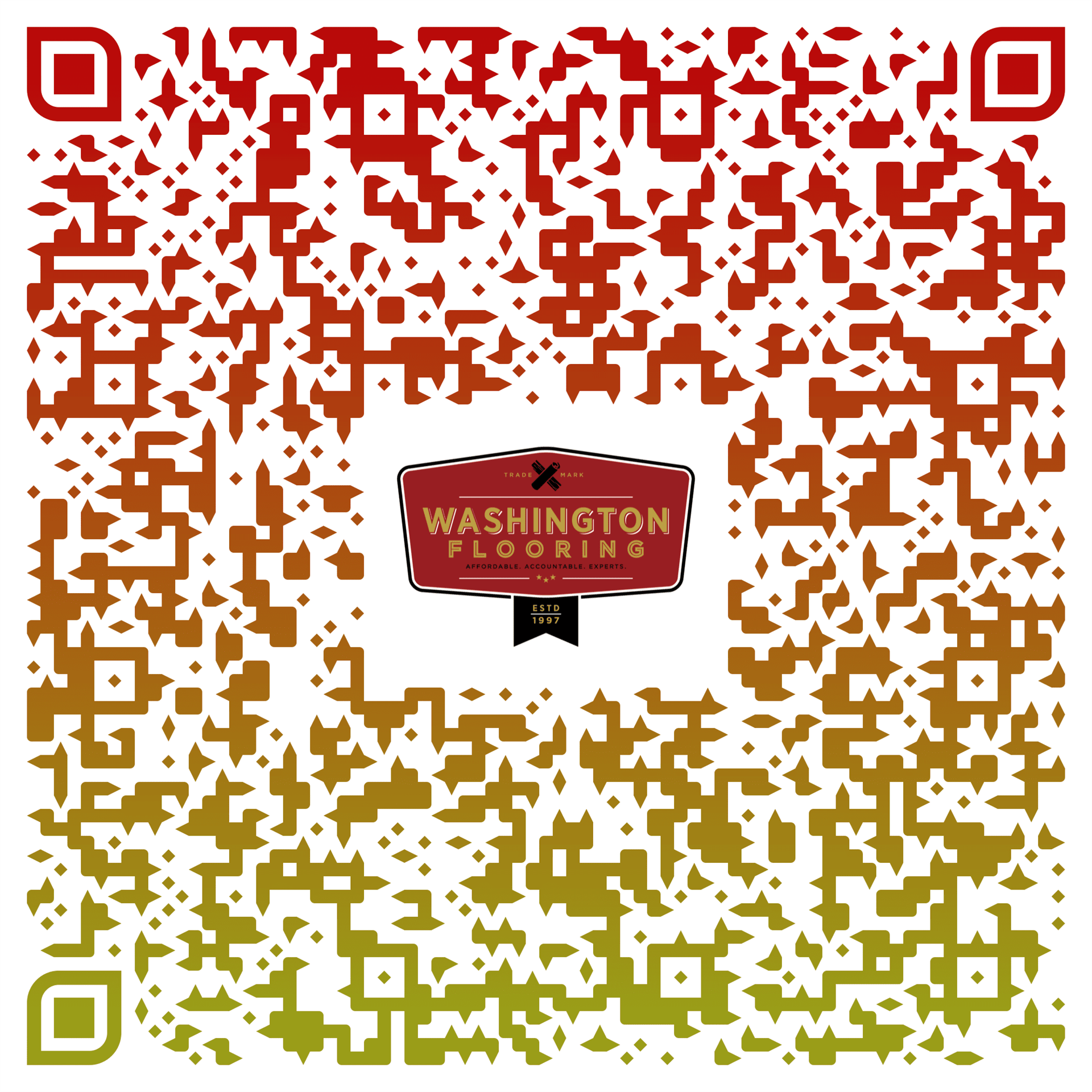 2019 Washington Flooring CV card QR code