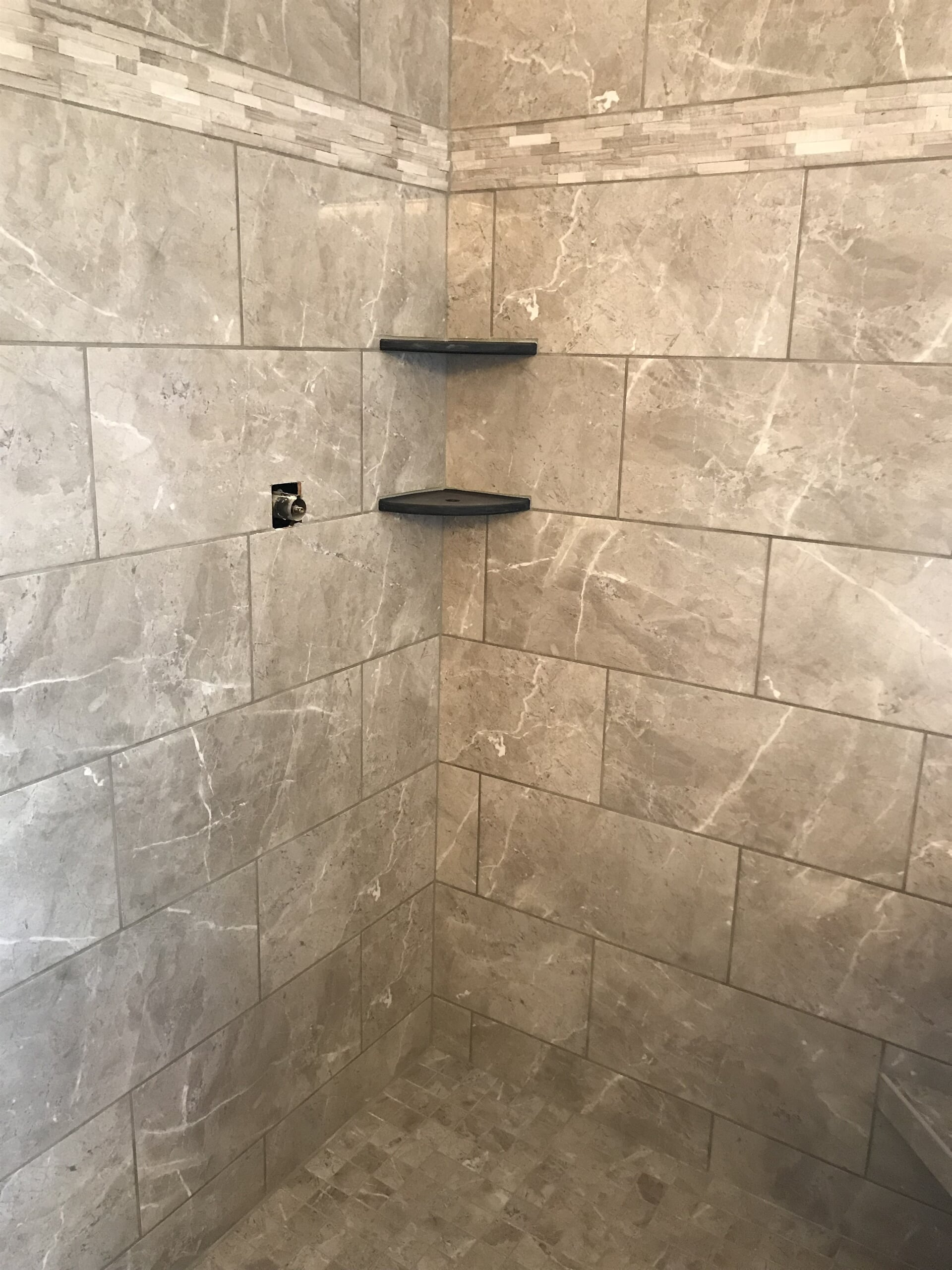Tile shower instalaltion in Homer Township, IL from Marchio Tile & Carpet Inc.