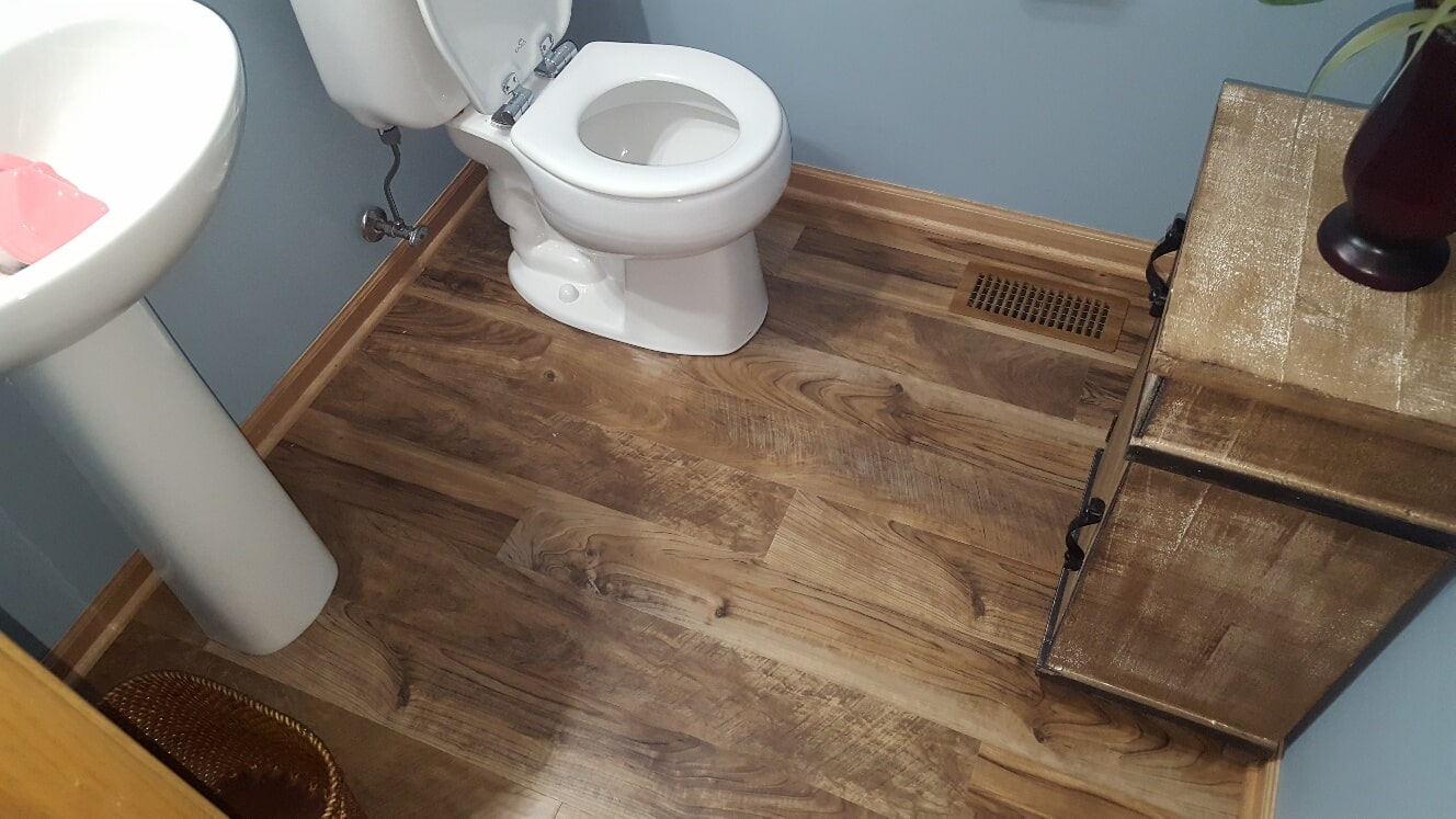 Luxury vinyl bathroom flooring in Frankfort, IL from Marchio Tile & Carpet Inc.