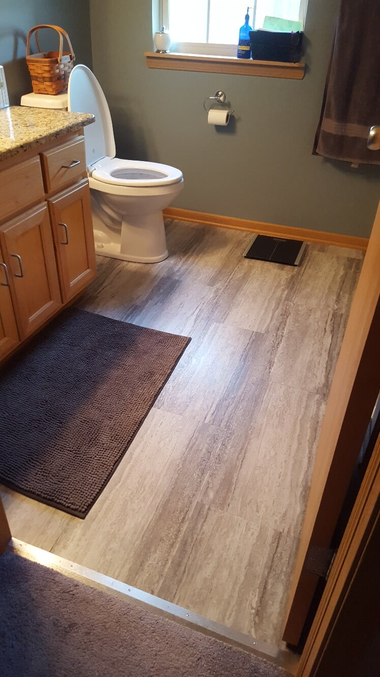 Wood look bathroom flooring in Manhattan, IL from Marchio Tile & Carpet Inc.