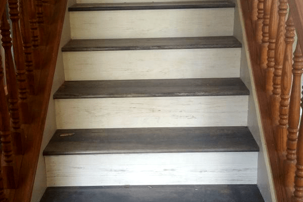 Laminate stairway installation in Prescott Valley, AZ from Prescott Flooring Brokers