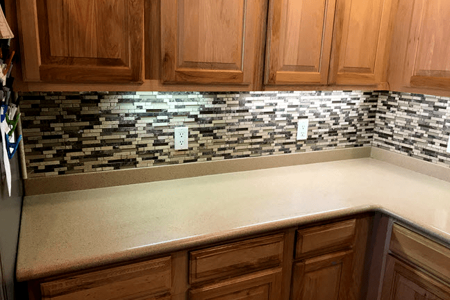 Mosaic backsplash Tile installation from Prescott Flooring Brokers in Sedona, AZ