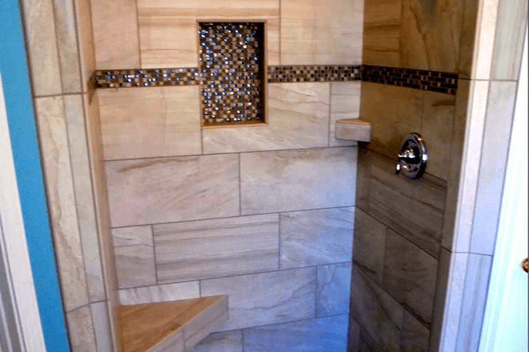 Tile shower installation from Prescott Flooring Brokers in Prescott, AZ