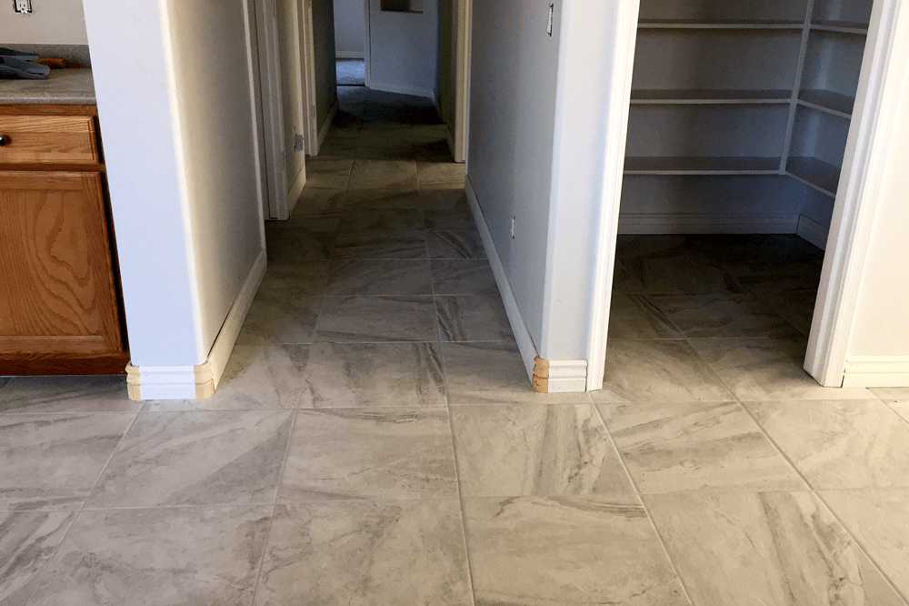 Stone flooring installation from Prescott Flooring Brokers in Sedona, AZ