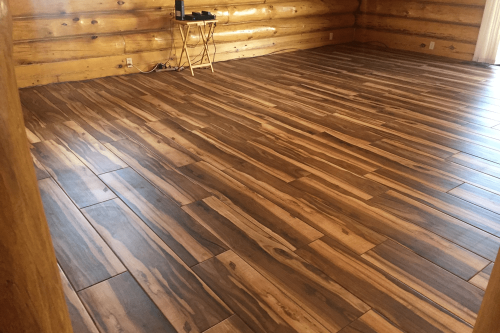 Modern wood look tile flooring in Sedona, AZ from Prescott Flooring Brokers