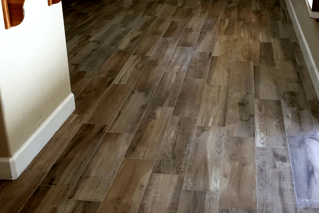 Tile flooring with a wood look in Prescott, AZ from Prescott Flooring Brokers
