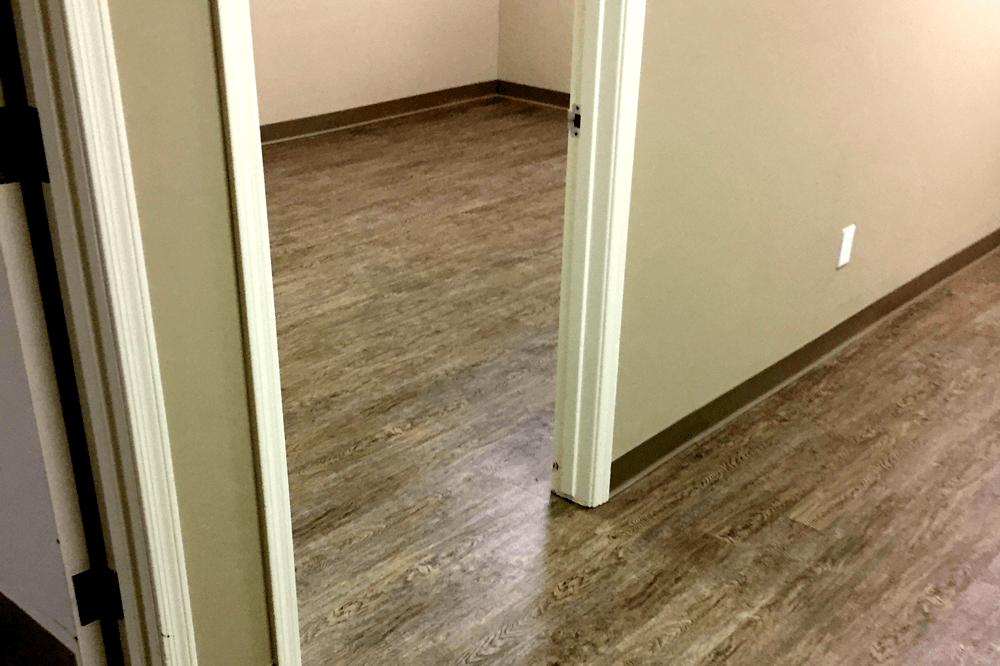 Wood-look vinyl installation in Prescott Valley, AZ from Prescott Flooring Brokers
