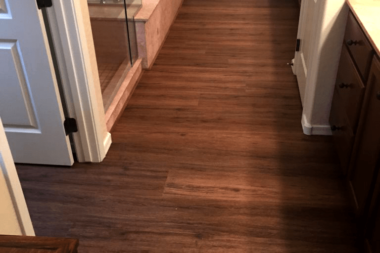 Natural wood look waterproof flooring installation in Dewey-Humboldt, AZ