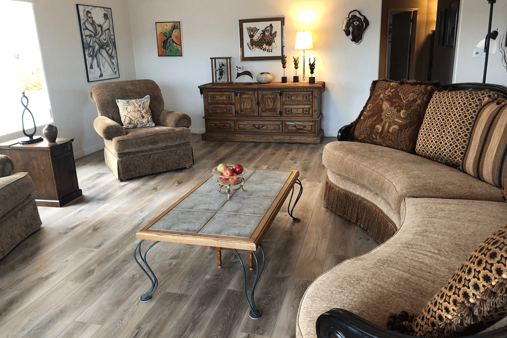 Living space with waterproof flooring in Prescott, AZ from Prescott Flooring Brokers