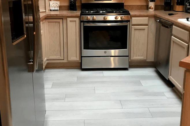 Spill safe kitchen flooring in Dewey-Humboldt, AZ from Prescott Flooring Brokers
