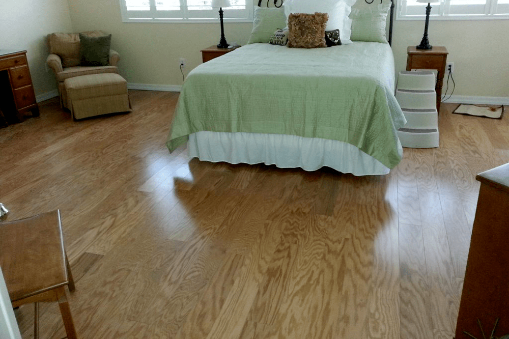 Natural hardwood in master space in Prescott Valley, AZ from Prescott Flooring Brokers