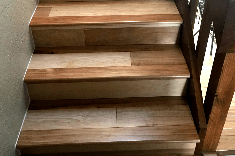 Hardwood stairway in Dewey-Humboldt, AZ from Prescott Flooring Brokers