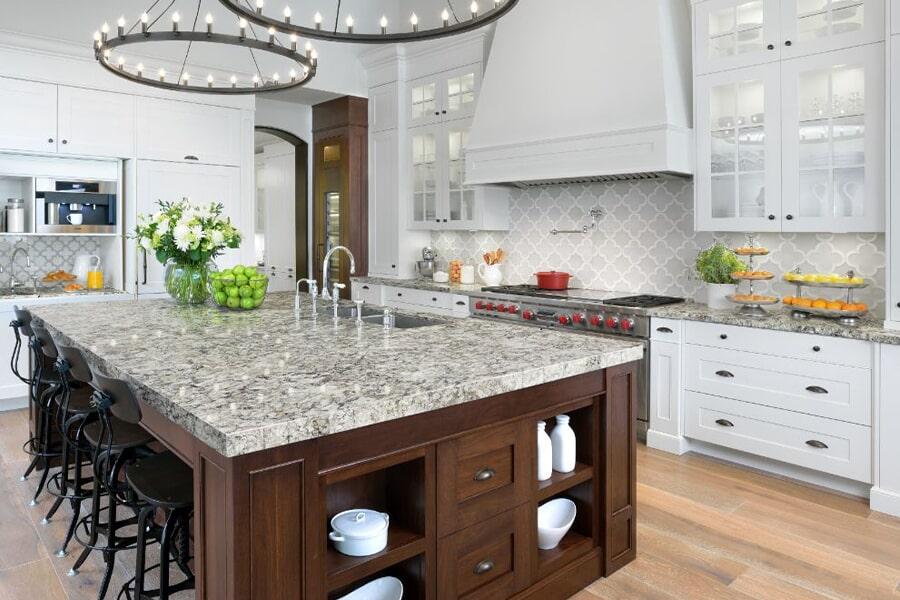 Beautiful textured granite countertops in Dyersburg, TN at Premier Floor Center