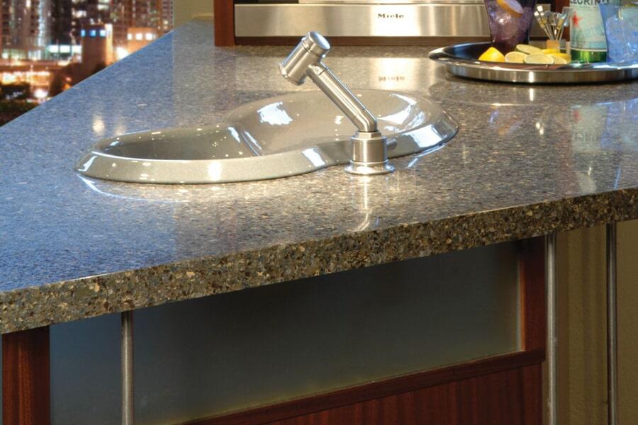 Beautiful textured countertops in Dyersburg, TN at Premier Floor Center