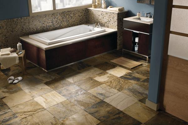 Custom stone bathroom in Sedona, AZ from Prescott Flooring Brokers
