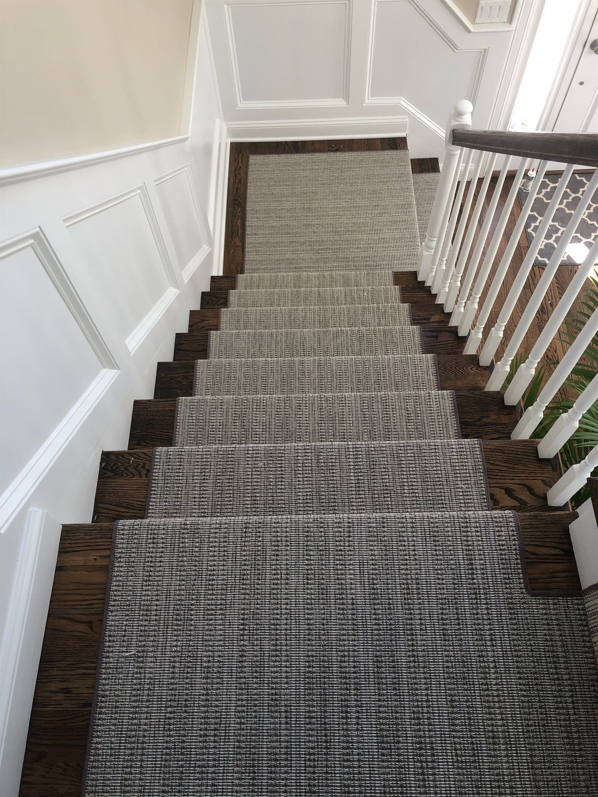 Custom carpet stair runner in Rocky Hill, CT from Custom Floors