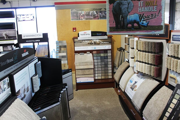 The Rick's Carpet Care showroom has everything for you Roseville, CA home