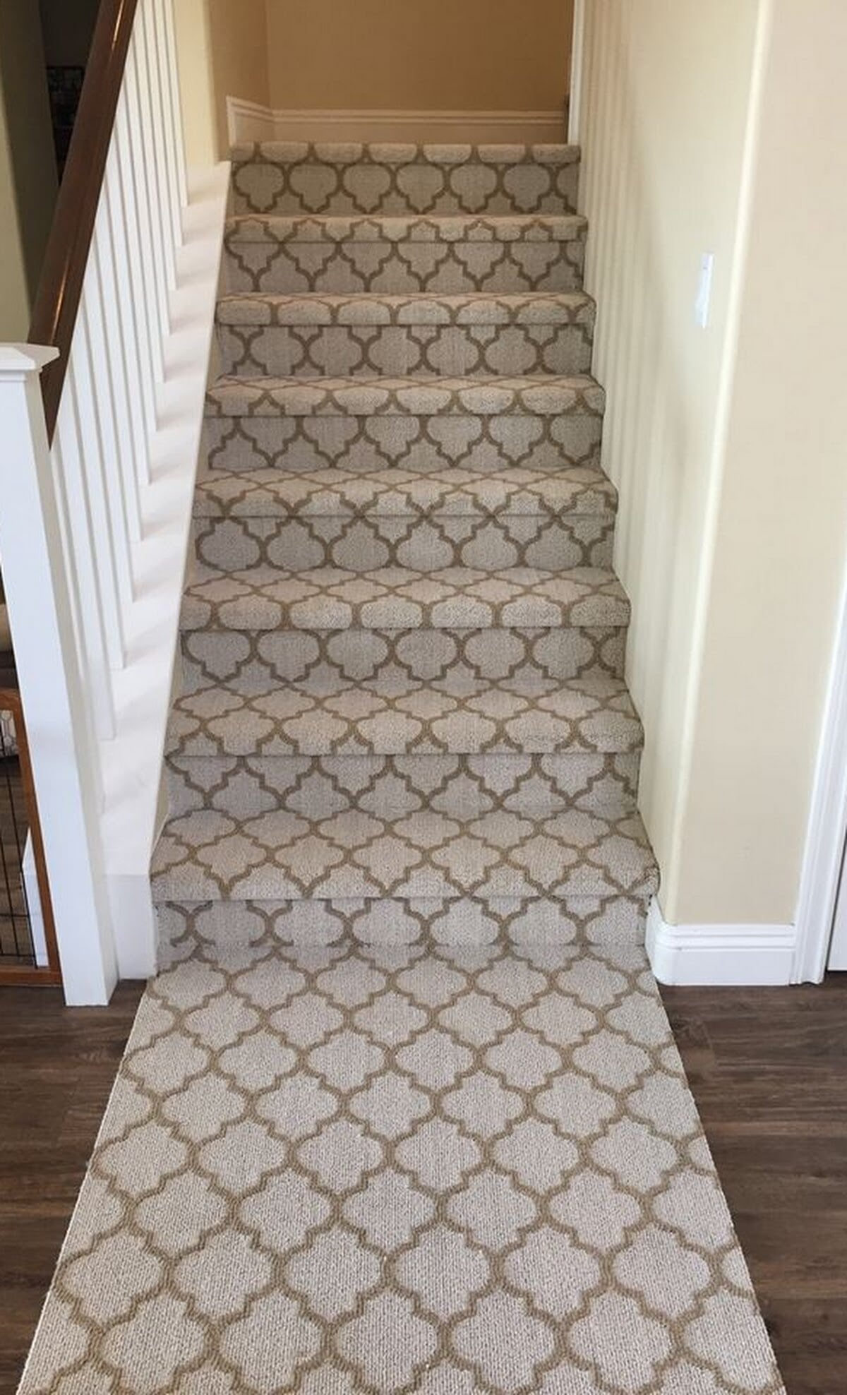 Carpeted stairs in North County, CA from Savon Flooring