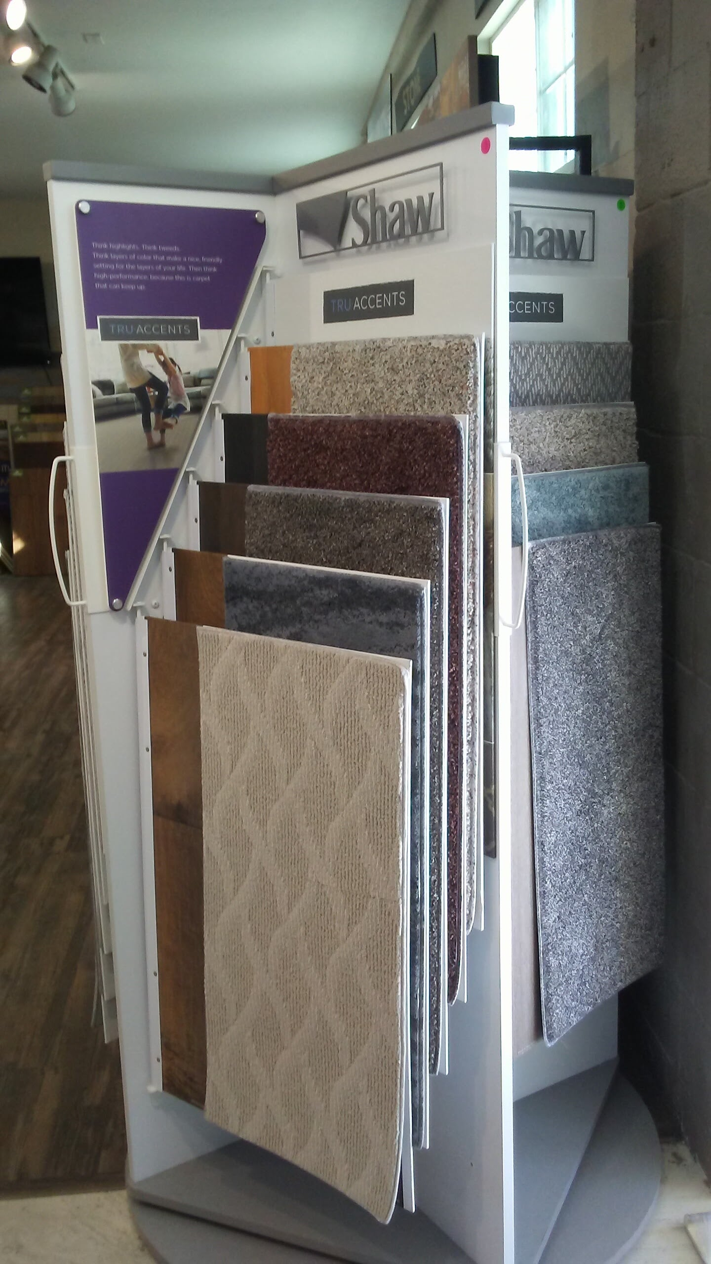 Shaw flooring available in our showroom in North County, CA