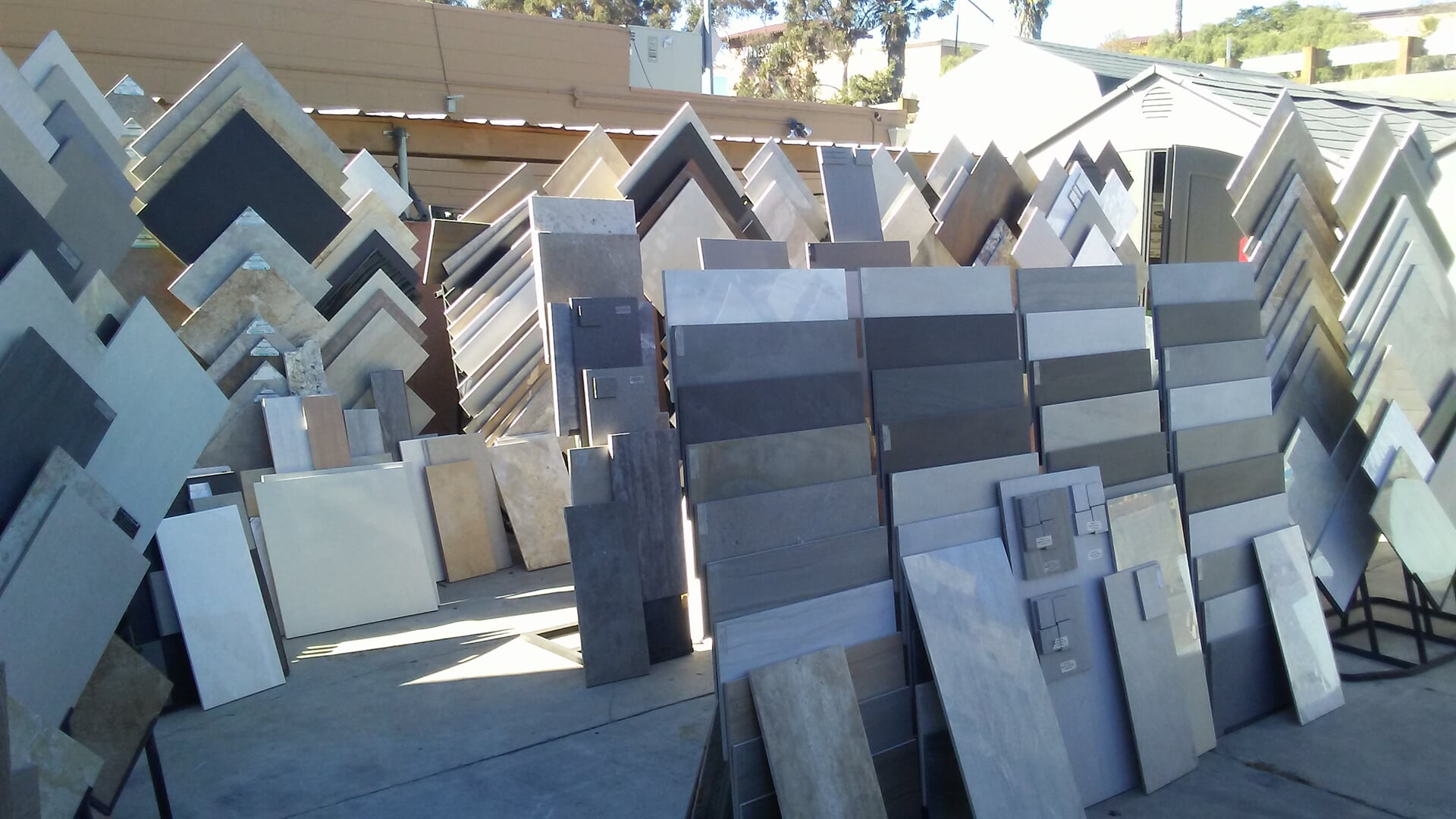 A large selection of flooring options in our North County, CA showroom