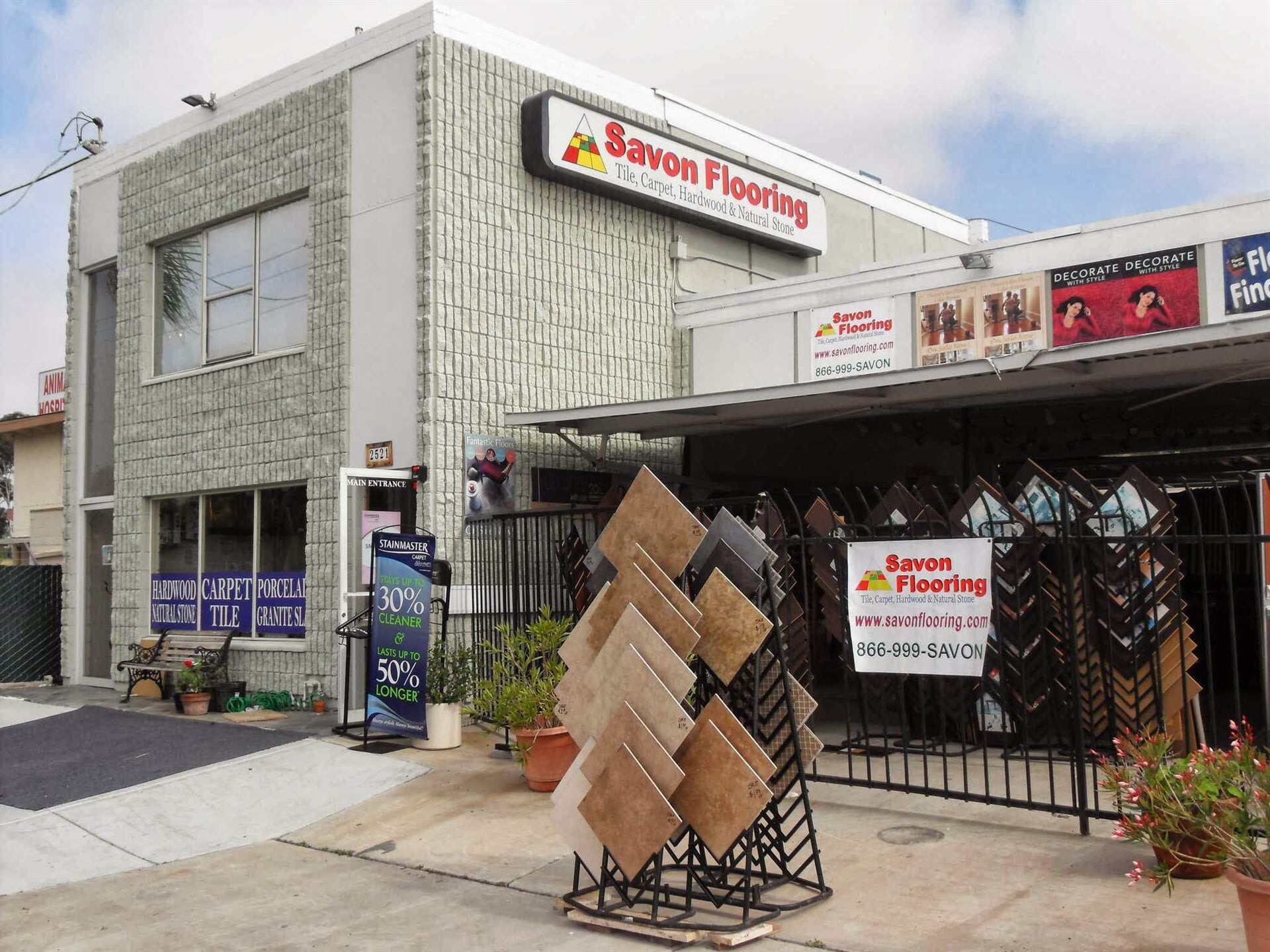 The Savon Flooring showroom in North County, CA