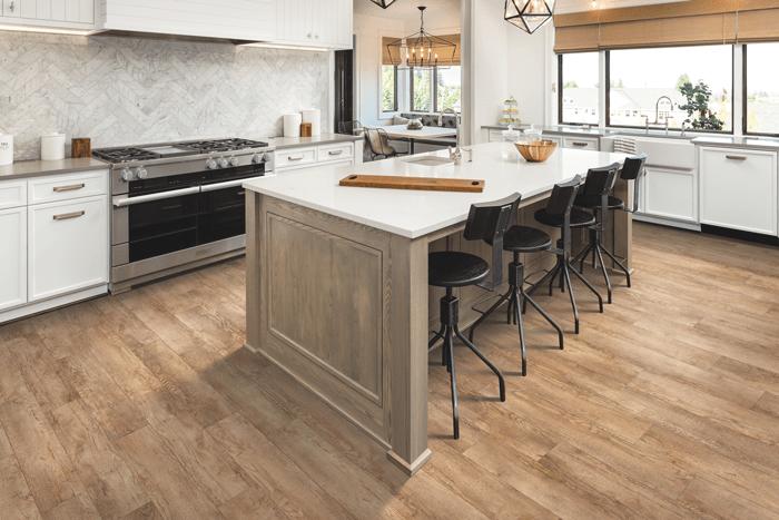 Wood look vinyl sheet flooring in Redlands, CA from Wally's Carpet & Tile