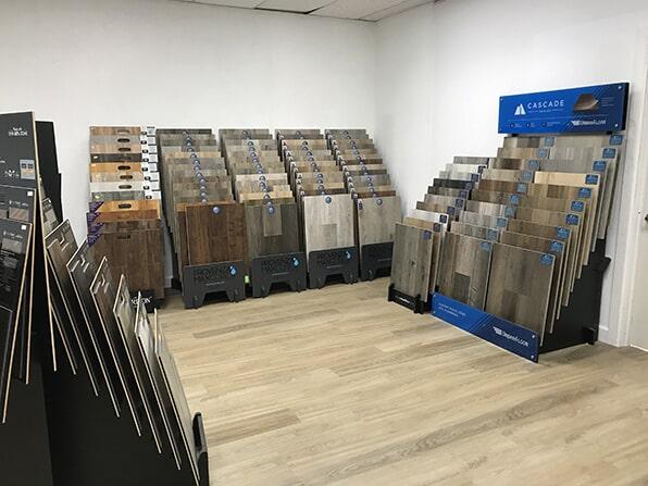 Showroom at Bergens Hardwood Flooring in San Diego, CA