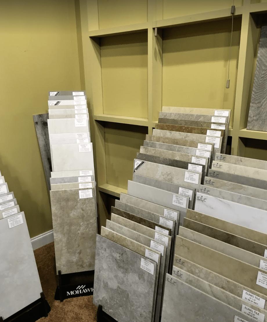 Tile samples from Father & Sons Carpet & Tile in Sebastian, FL