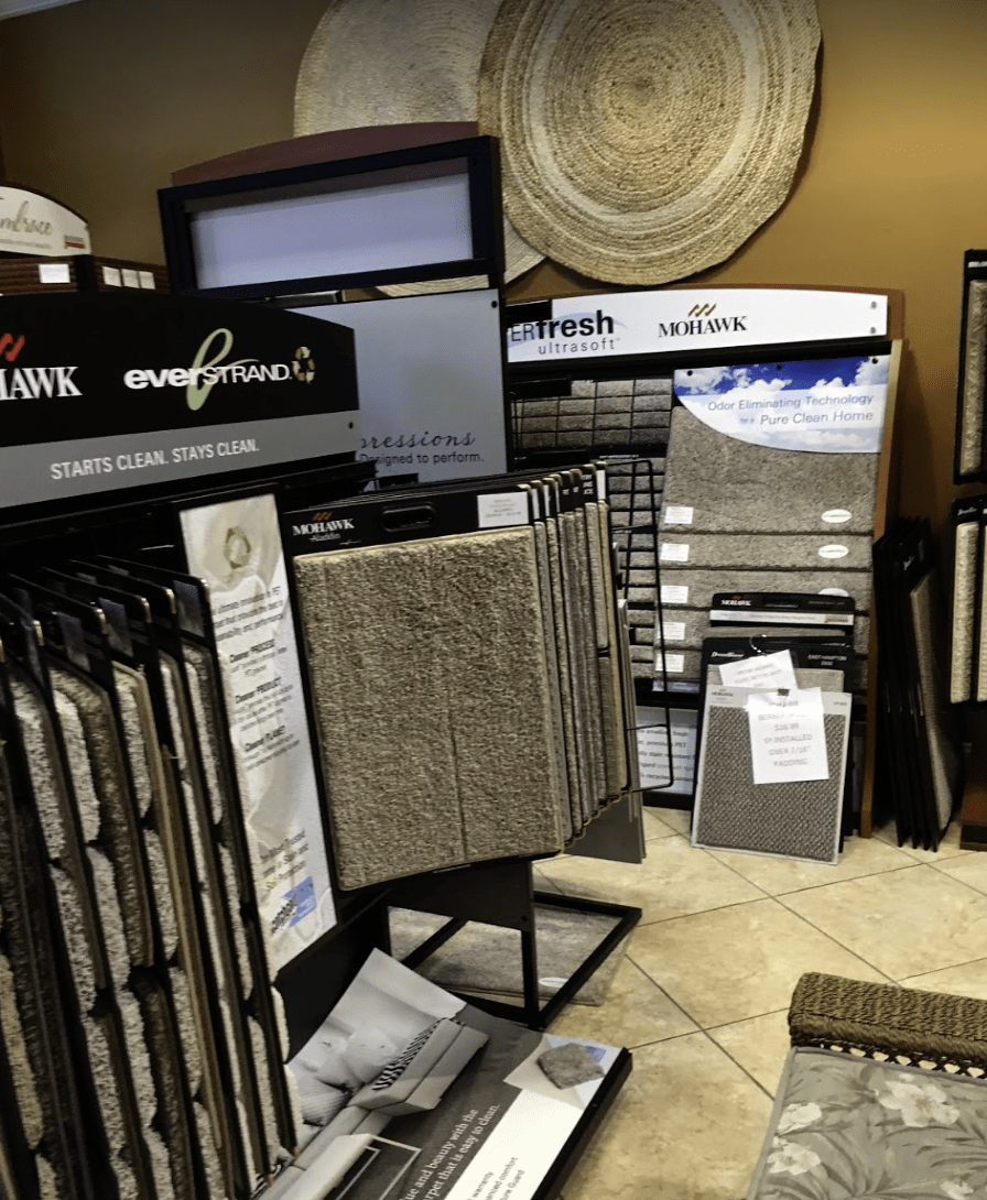 Carpet showroom at Father & Sons Carpet & Tile in Indian River County, FL