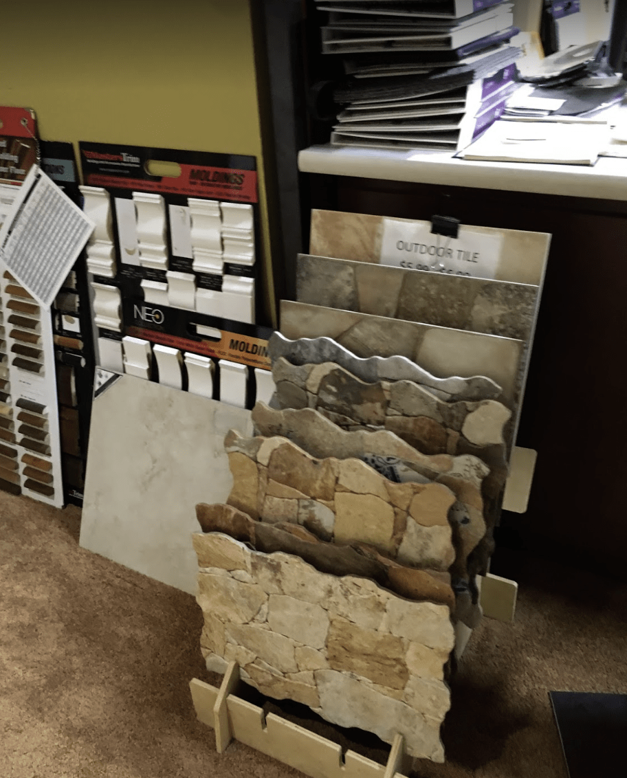 Stone samples from Father & Sons Carpet & Tile in Indian River County, FL