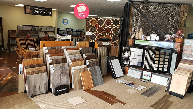 Katz Floorcovering showroom in Dawson, GA
